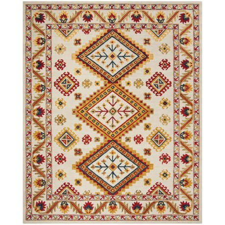 Image of Bohemian-Pattern Multi-Ivory Area Rug - 8x10? Hand-Tufted Wool