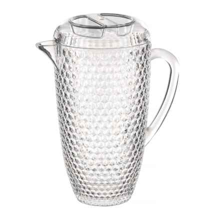 Boho Living Checkered Beehive Acrylic Pitcher - 69 oz. in Clear - Overstock