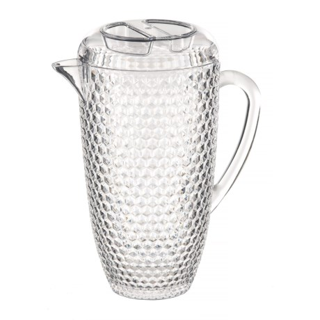 Boho Living Checkered Beehive Acrylic Pitcher - 69 oz. in Clear