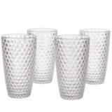 Boho Living Checkered Highball Glasses - 19 oz., Acrylic, Set of 4