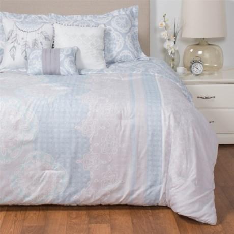 Boho Nights Sabrina Comforter Set - California King, 6-Piece in Blue/Aqua/Grey