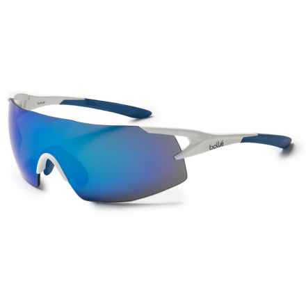 Bolle 5th Element Sunglasses in Matte White Blue/Blue Violet Oleo Af - Closeouts