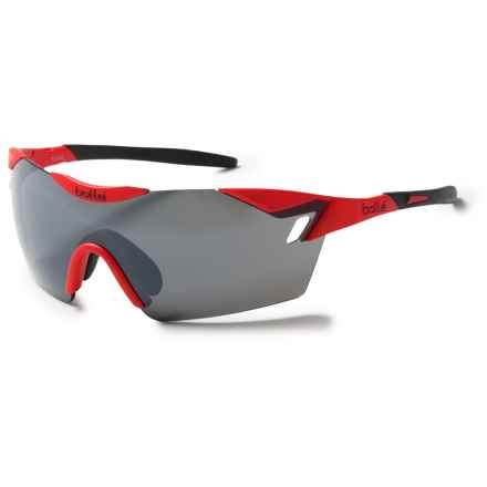 Bolle 6th Sense Sunglasses in Matte Red Black/Tns Gun Oleo Af - Closeouts