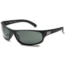 Bolle Anaconda Sunglasses - Polarized in Matte Black/True Neutral Smoke - Closeouts