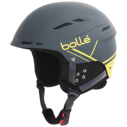 Bolle B-Fun Ski Helmet in Soft Gray/Yellow - Closeouts