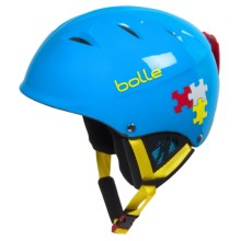 Bolle B-Kid Ski Helmet (For Kids and Youth) in Shiny Blue Puzzle - Closeouts