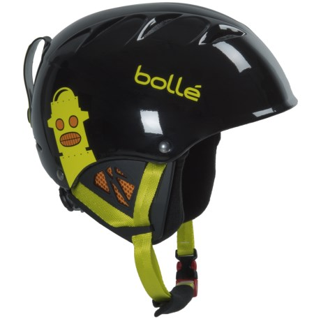 Bolle B-Kid Ski Helmet (For Little Kids) in Shiny Black Robot