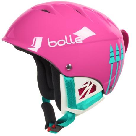 Bolle B-Kid Ski Helmet (For Little Kids) in Shiny Pink Birds