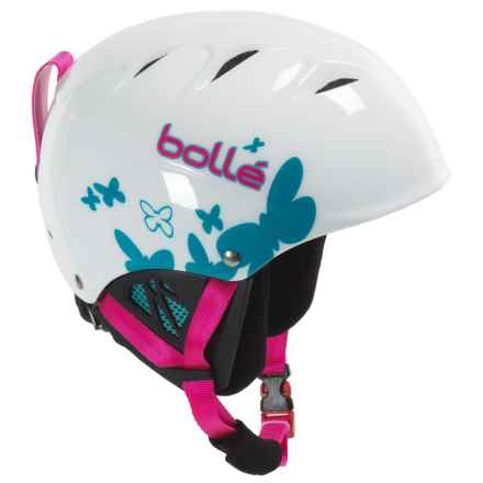 Bolle B-Kid Ski Helmet (For Little Kids) in Shiny White Butterfly - Closeouts
