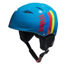 Bolle B-Kid Snowsport Helmet (For Kids and Youth) in Shiny Blue Moustache - Closeouts