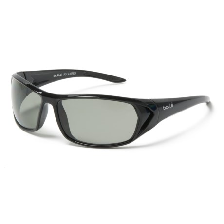 Bolle Blacktail Sunglasses - Polarized in Shiny Black/Modulator Grey/Oleo Af