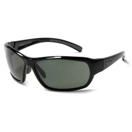 Bolle Bounty Sunglasses - Polarized in Shiny Black/Black - Overstock