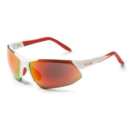 Bolle Breakaway Sunglasses in Shiny White/True Neutral Smoke-Fire - Closeouts
