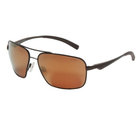 Bolle Brisbane Sunglasses - Polarized in Matte Brown/Ag-14