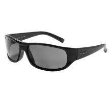 Bolle Cameron Sunglasses - Polarized in Shiny Black/True Neutral Smoke - Closeouts