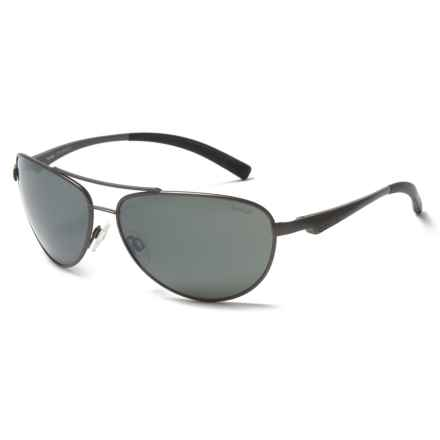 Bolle Columbus Sunglasses - Polarized in Satin Gun Metal/Black - Overstock
