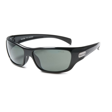 Bolle Crown Sunglasses - Polarized in Shiny Black/True Neutral Smoke