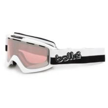 Bolle Cus Ski Goggles in Shiny White/Vermillon Gun - Closeouts