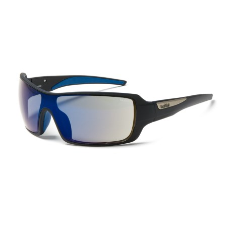 Bolle Diamondback Sunglasses in Matte Black/Blue