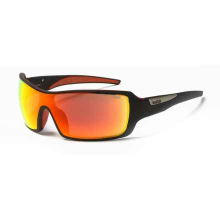 Bolle Diamondback Sunglasses in Matte Black/Red/Fire - Overstock