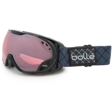 Bolle Duchess Ski Goggles - Mirror Lens (For Women) in Shiny Black/Vermillion Gun - Closeouts