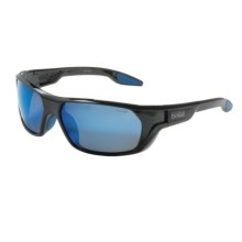 Bolle Ecrins Sunglasses - Polarized in Shiny Black/Gb-10 Blue Mirror - Closeouts