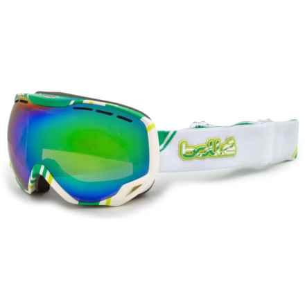 Bolle Emperor Graphic Ski Goggles in White Lime/Green Emerald - Closeouts