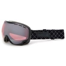 Bolle Emperor OTG Ski Goggles in Shiny Black/Vermillon Gun - Closeouts