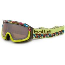 Bolle Fathom Ski Goggles in Lime/Amber Gun - Closeouts