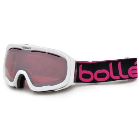 Bolle Fathom Ski Goggles in Shiny White/Vermillon Gun