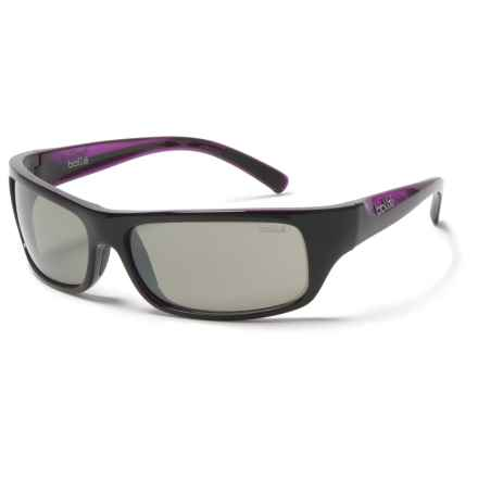 Bolle Fierce Sunglasses in Shiny Black/Purple/Tns Gun - Overstock