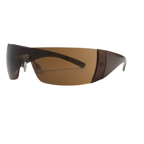 Bolle Flash Sunglasses in Gold Hermatite/Tlb Dark Brown