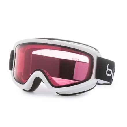 Bolle Freeze Ski Goggles (For Men) in Shiny White/Vermillon - Overstock