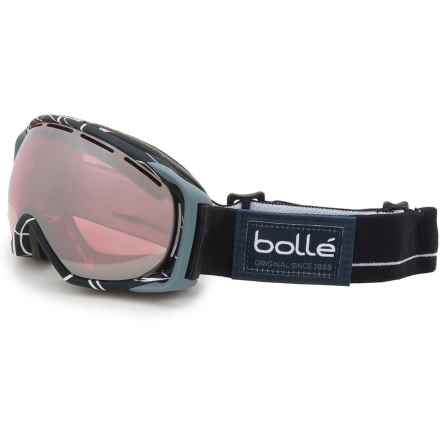 Bolle Gravity Ski Goggles - Mirror Lens (For Men) in Black/White/Vermillion Gun - Closeouts