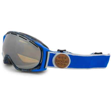 Bolle Gravity Ski Goggles - Mirror Lens (For Men) in Blue/Grey Splatter/Black Chrome - Closeouts