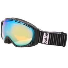 Bolle Gravity Snowsport Goggles - Vermillion Lens in Pinstripe/Citrus Gold - Closeouts