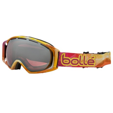 Bolle Gravity Snowsport Goggles - Vermillion Lens in Sunburst/Vermillion Gunmetal