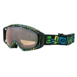Bolle Gravity Snowsport Goggles - Vermillion Lens in White/Vermillion Gunmetal