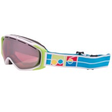 Bolle Gravity Snowsport Goggles - Vermillion Lens in White/Vermillion Gunmetal - Closeouts