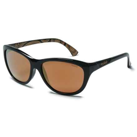 Bolle Greta Sunglasses - Polarized Mirror Lenses in Shiny Black - Overstock