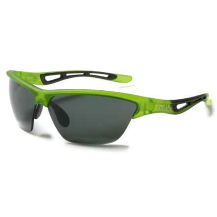 Bolle Helix Sunglasses - Polarized in Satin Crystal Green/True Neutral Smoke - Closeouts