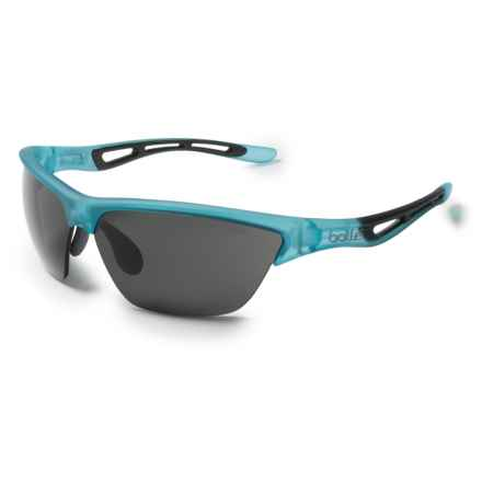 Bolle Helix Trives + Sunglasses in Satin Crystal Blue/True Neutral Smoke - Closeouts