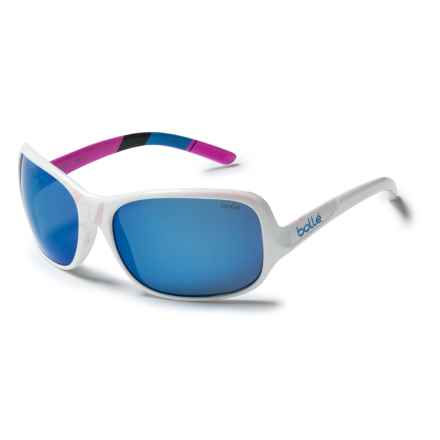 Bolle Kassia Sunglasses - Polarized Mirrored Lenses (For Women) in Shiny White/Offshore Blue - Closeouts