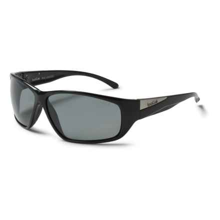 Bolle Keel Sunglasses - Polarized in Shiny Black/Grey Modulator - Closeouts