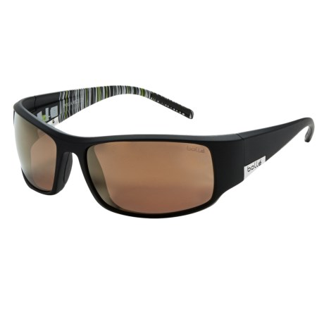 Bolle King Sunglasses - Polarized in Matte Black/Inland Gold