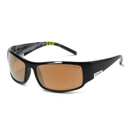 Bolle King Sunglasses - Polarized in Shiny Black/Black - Closeouts