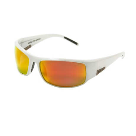 Bolle King Sunglasses - Polarized in Shiny White/Tns Fire Ole/Af