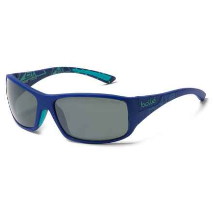 Bolle Kingsnake Sunglasses - Polarized in Matte Blue/Gunmetal - Closeouts