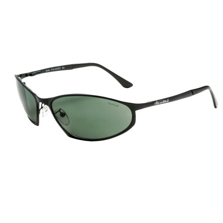 Bolle Limit Sunglasses - Polarized in Matte Black/Axis Green/Grey