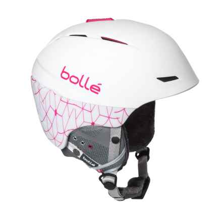 Bolle Millennium Ski Helmet (For Women) in Soft White/Pink - Closeouts